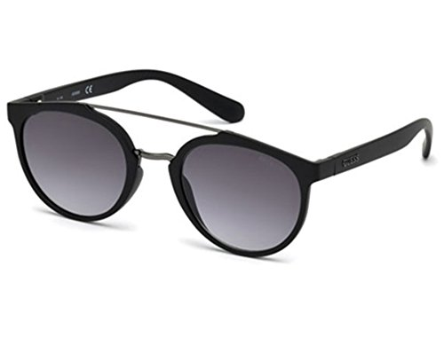 Guess 6890 02C Matte Black 6890 Round Sunglasses Lens Category 3 Size 52mm