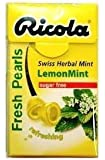 Ricola Herbal Sugar Free Lemon Fresh Mints (Pack of 12)