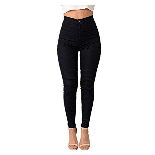 en Noir Haute Jeans Familizo Femme Multicolore Jeans Court Jeans Dentelle Taille Femmes pwffzB