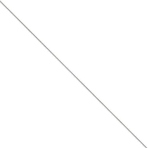 Or blanc 14 carats Largeur 1 mm-Longueur :  7 cm-JewelryWeb pince de homard