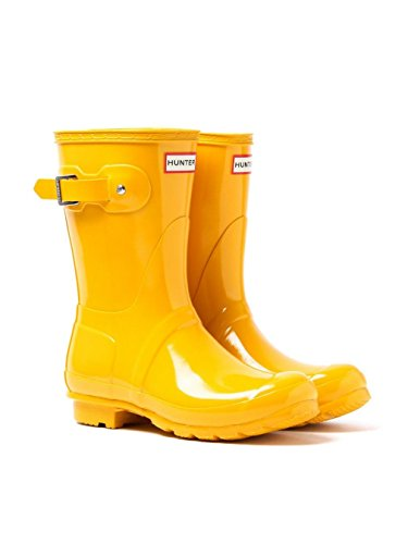Hunter Boots Women's Original Short Gloss Boots, Yellow, 7 B(M) US by Hunter
