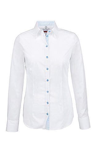 Clásico bleu Manga Greiff Larga Camisas Weiß Mujer Para SFq4UFzw