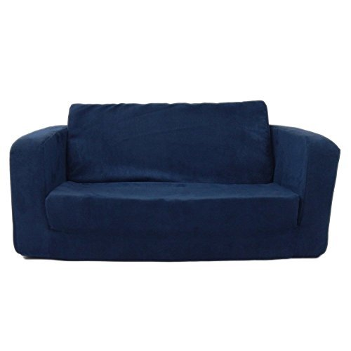 Toddler Flip Sofa Upholstery - Color: Micro Suede - Dark Blue by Fun Furnishings by