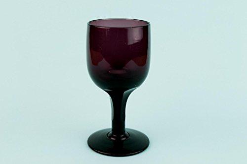 Dark Amethyst Panel Cut Glass Dessert Wine Port Sherry Georgian Antique English Regency Circa 1810 Medium