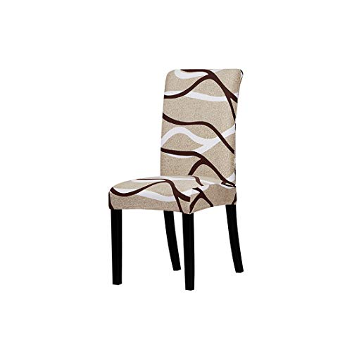 Print Flowers Chair Cover Classic Chair Covers seat Cover for Home Dining Room Weddings Hotel Party Banquet,125845,Universal Size ()