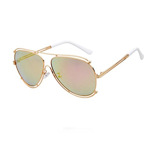 Sinkfish SG80027 Gift Sunglasses for Women,Anti-UV & Fashion Polarizer - UV400 (Goldenrod)