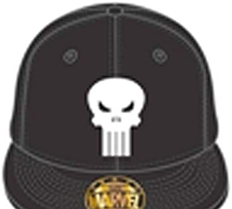 Marvel The Punisher Gorra, Negro, Talla única Unisex Adulto ...
