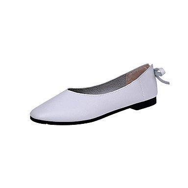 Blanc US6.5-7   EU37   UK4.5-5   CN37 Wuyulunbi @ pour femme Chaussures PU Printemps Fall Confort apparteHommests à plat pour extérieur marron beige blanc