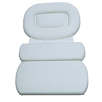 Richards Homewares 3 Panel Spa Bath Pillow, White