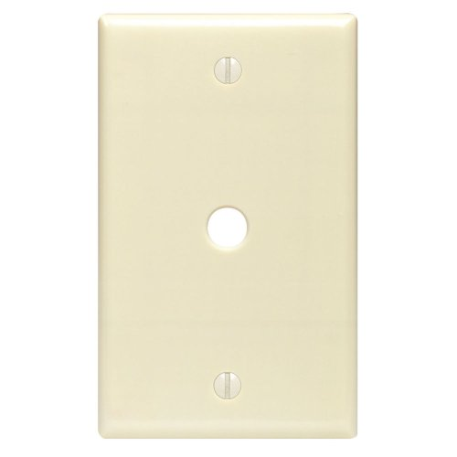 Gang Leviton Telephone 1 (Leviton 80513-I 1-Gang .312-Inch Hole Device Telephone/Cable Wallplate, Midway Size, Ivory)