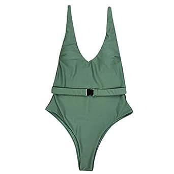 Amazon.com: Lmtime - Bañador para mujer de color puro ...