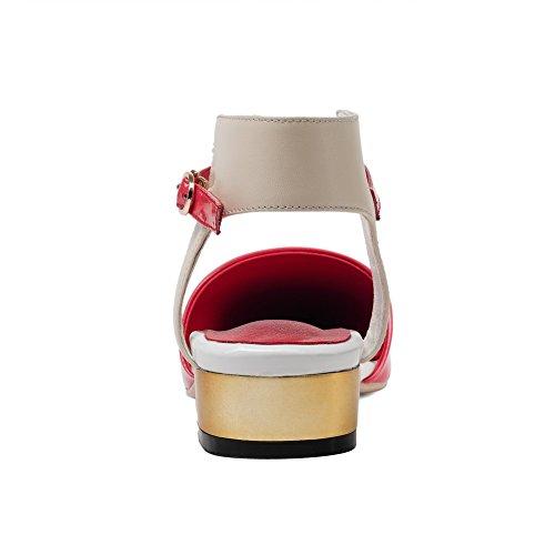 Compensées Sandales Femme BalaMasa 5 Red Rouge ASL05073 36 SCgwWF4qac