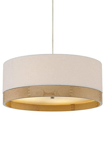 White Satin Nickel Fluorescent Drum - Tech Lighting 700TPO24WW-CF277 Topo 277v 4 Light Fluorescent 24