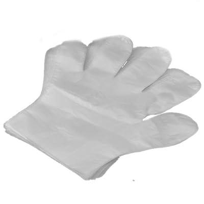 100pcs Grand gants en plastique jetables sanitaire