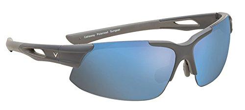 Callaway  Sungear Peregrine Golf Sunglasses - Matte Gray Plastic Frame, Brown Lens w/Blue ()