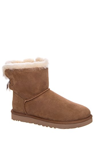 UGG Women's Mini Bailey Button II Winter Boot, Chestnut, 8 B US