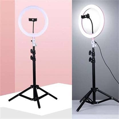 SAVVY BUCKET 10 Inches Big LED Ring Light Compatible with Camera, DSLR, Smartphone, Flash etc for YouTube, Instagram Reels, Make Up & Vlogging with 7 Feet Long Foldable Tripod