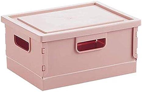 MU Caja de almacenamiento plegable grande, organizador de armario, caja de almacenamiento debajo de la cama, organizador de caja de cesta plegable para estantes, armario, juguetes,Rosado,37,5 * 25 *: Amazon.es: Bricolaje y