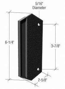 CRL Black Plastic Outside Pull; 3-7/8 Screw Holes - CANADA ONLY by C.R. Laurence