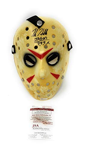 Kane Hodder Jason Friday The 13th Replica Mask Inscribed Hand Signed Autograph JSA Witnessed Certified