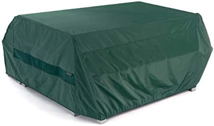Covermates Picnic Table Cover 76W x 62D x 32H Classic 12-Gauge Vinyl – Polyester Lining – Elastic Hem – 2 YR Warranty Weather Resistant – Green