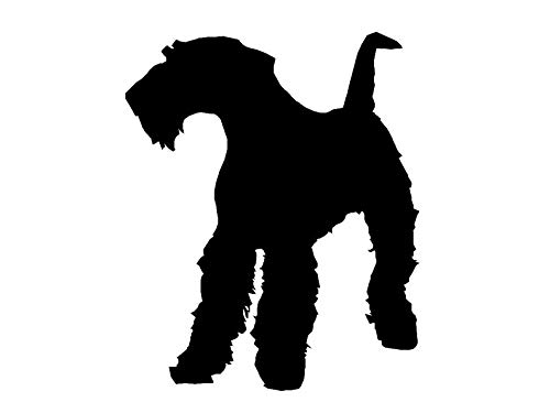 CELYCASY Vinyl Decal - Airedale Terrier Dog Silhouette Custom Vinyl Decal Sticker