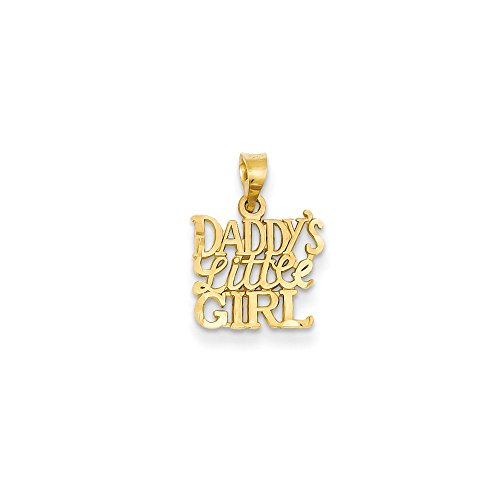 14k Gold Daddy's Little Girl Charm Pendant (0.63 in x 0.51 in)