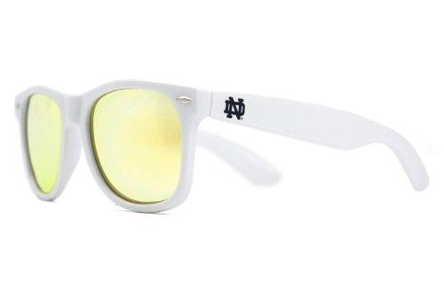 NCAA Notre Dame Fighting Irish  ND-6- White Frame, Gold Lens Sunglasses, White, One - Notre Dame Sunglasses