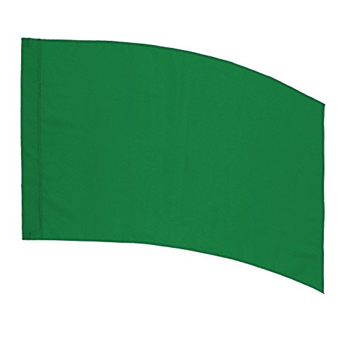 (DSI Color Guard Practice Flag (PCS) - Curved Rectangle - Green)