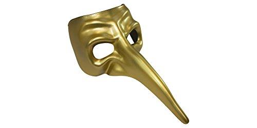 Long Nose Gold Venetian Masquerade Mask]()