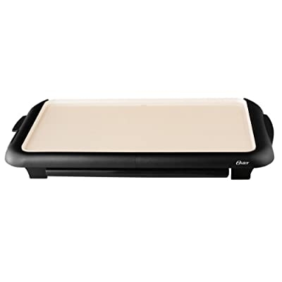 Oster DuraCeramic Griddle with Warming Tray Black/Crème