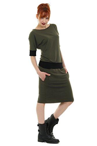 Vestido mujer Made de 3 Batwing vestidos Olive verano para Elwing In Berlin rgrtq