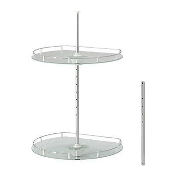 ikea utrusta - wand eckschrank karussell: amazon.de: küche & haushalt - Ikea Küche Eckschrank Karussell
