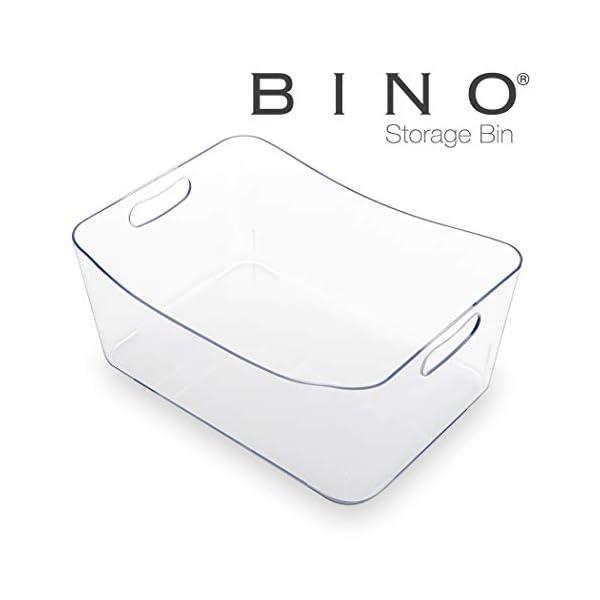 BINO Refrigerator, Freezer and Pantry Cabinet Storage Organizer Bin with Handles...