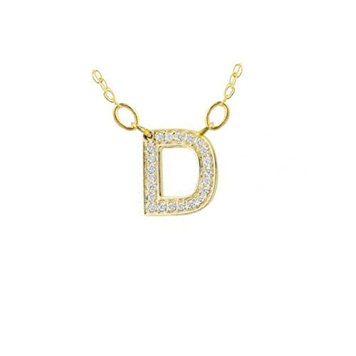 Gold Diamond Initial Letter - 7