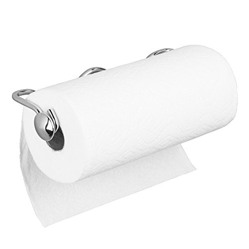 InterDesign Awavio Wall Mount Paper Towel Holder for Kitchen, Bathroom, Laundry Room, Utility Room, 2.13