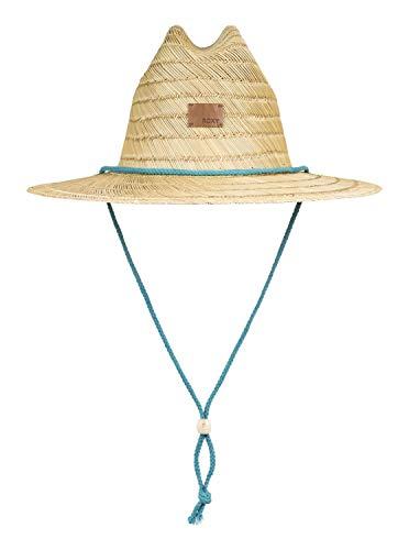 Roxy Womens Pretty Smiles - Straw Sun Hat - Women - M - Blue Brittany Blue M/L (Roxy Hats For Women)