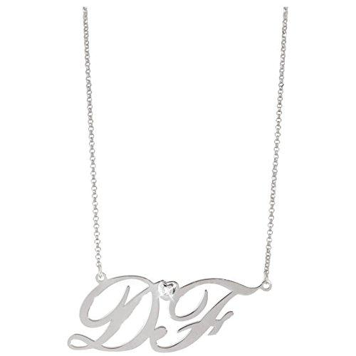 Artlinea-Collier Ras du cou Artlinea en or 18 carats et initiales avec Diamant