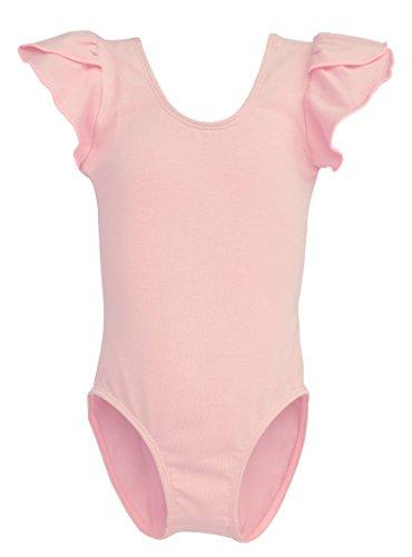 Dancina Girls Leotard Ballet Petal Sleeve Front Lined 4 Ballet Pink