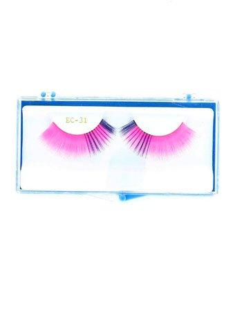 Pink And Purple Long Eyelashes - ONE SIZE