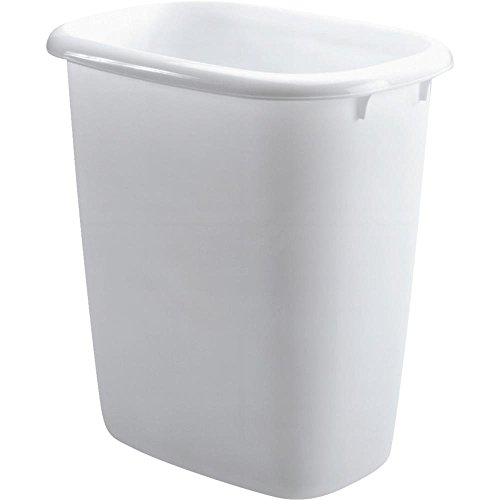 Rubbermaid FG295800WHT 14.4 Quart Vanity Wastebaskets