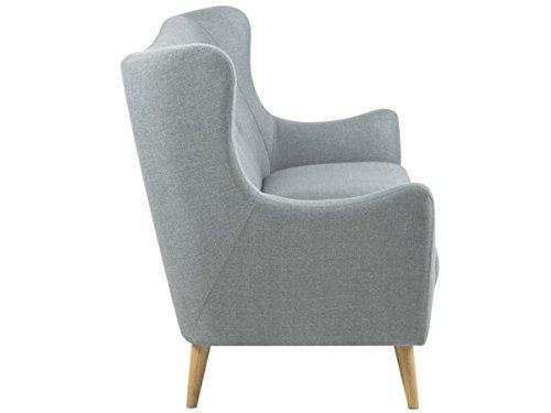 Sofa Stoffcouch Couch Dreisitzer Kuchensofa Retro Grau Kaoma I 3