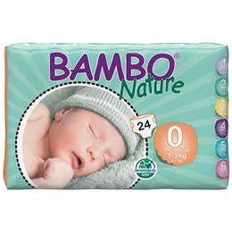 Bambo Premature 24 Nappies 2-6lbs, 1-3kg Abena