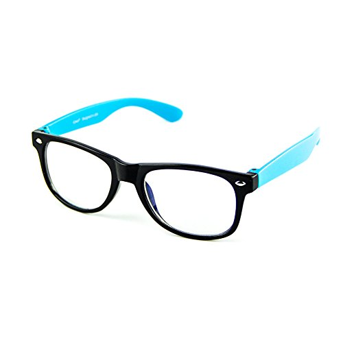 Cyxus Blue Light Blocking Glasses for Kids and Teens, Anti Eye Strain UV Computer Eyewear Clear Lens Blue Frame
