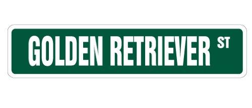 GOLDEN RETRIEVER Street Sign dog puppy breeder pet yard   Indoor/Outdoor   24