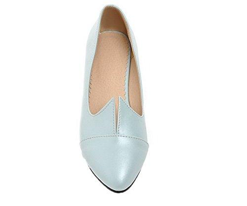 Ballet Scarpe Moolarmi Tacco Tirare Puro Donna Azzurro Basso A Flats Luccichio Punta 37 T4HfYz4qaw
