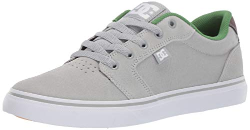 Suede Sneakers Dc - DC Men's Anvil Skate Shoe, Grey/Green, 12 M US