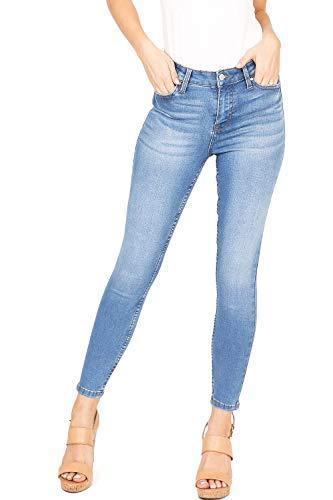(Celebrity Pink Women's Juniors High Rise Ankle Skinny Jeans (3, Whisker Medium Denim))