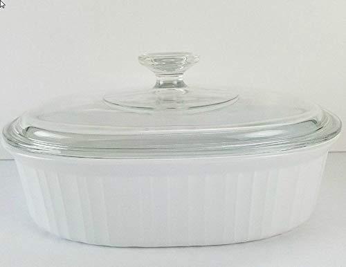 Corningware F-12-B 1.8 Liter Casserole Ovenware Dish w/ Clear Glass Lid - Casserole Ovenware