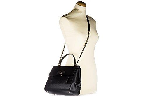Salvatore Ferragamo sac à main femme en cuir carrie noir